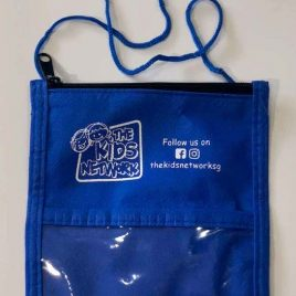 Kids Pouch with Strap (Blue)